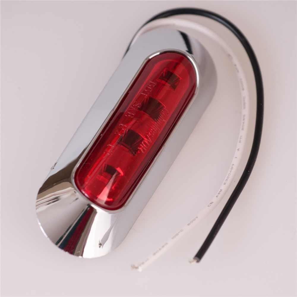 2ピース車ledライト10-30ボルトトレーラートラックリアライト赤アンバークリア自動車サイドマーカー外部クリアランス車スタイリングランプ