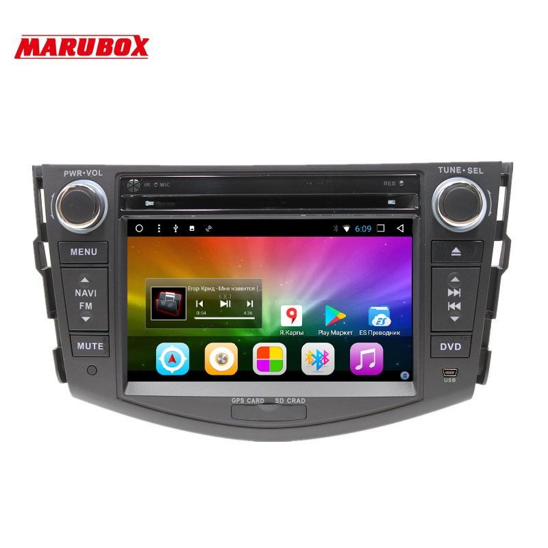 MARUBOX ,Car Multimedia Player for Toyota RAV4,2005 2013,Octa Core,1024*600,Android 8.1, 2GB RAM, 32GB ROM,GPS,DVD,Radio TEF6686-in Car Multimedia Player from Automobiles & Motorcycles    1