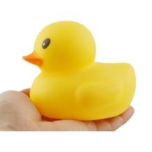 Brinquedo de banho de borracha para bebê, brinquedo educacional divertido de 11cm para banho, pato amarelo grande, água de banheiro brinquedos, brinquedos
