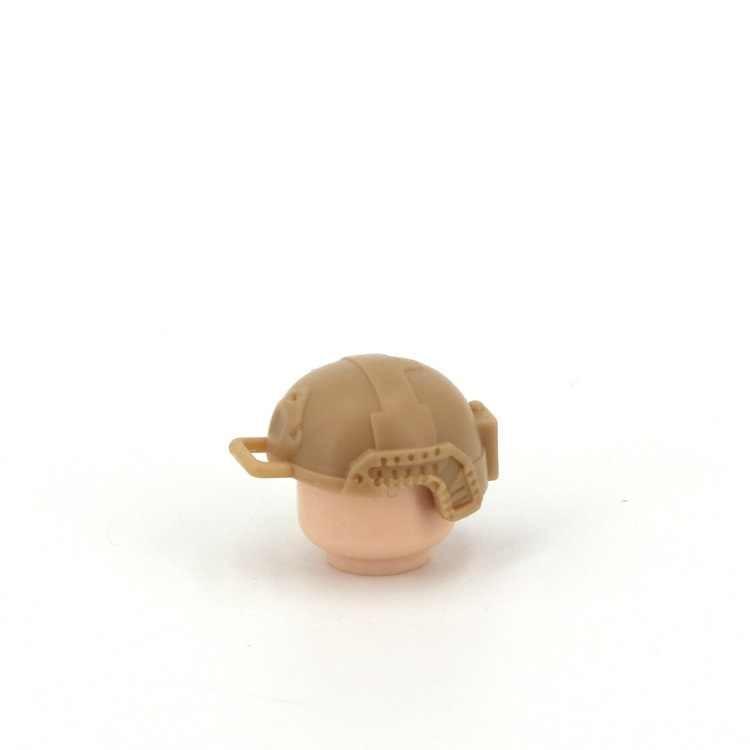 Современный шлем спецназ военный MOC DIY оружие строительный блок кирпич аксессуары DIY Мини фигурки оригинальные маленькие игрушечные фигурки