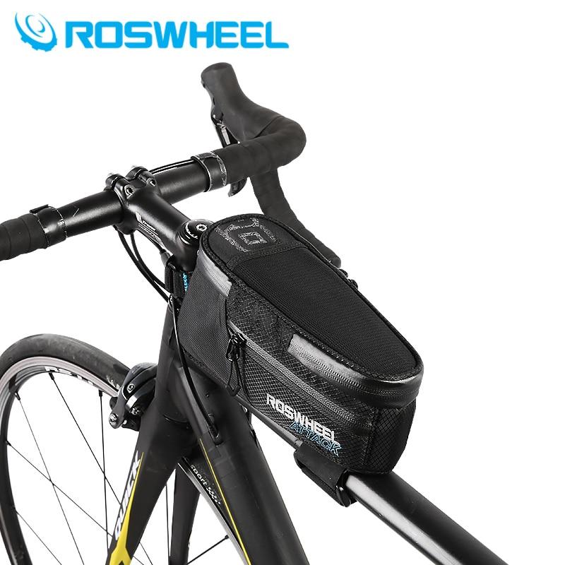 Roswheel Bicycle Bag Bike large Capacity Waterproof Cycling Bag Bicycle Trunk Tube Latest Front Bags bike Accessories 121370 коробка для мушек на трубках snowbee waterproof tube large
