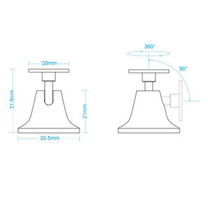 Image 5 - Original Aqara Human Body Sensor Holder Stand 360 Degree Free Rotation Motion Sensor Base ONLY for Mijia Body Aqara body sensor