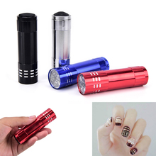 Mini LED Flashlight For Nail Gel 15s Fast Dry Cure Nail Art Dryer tools Gel Nail Dryer UV Lamp Nail Dryer Portable cheap Jiauting 4 5v Diameter 2 4cm Other Nail Flashlight Aluminum Alloy Dry Battery