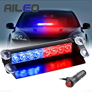 8 LED Red/Blue Yellow Blue Car