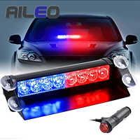 8 LED rojo/azul amarillo azul coche policía estroboscópico luz intermitente Dash advertencia de emergencia 3 luces antiniebla intermitentes 3 Estilo