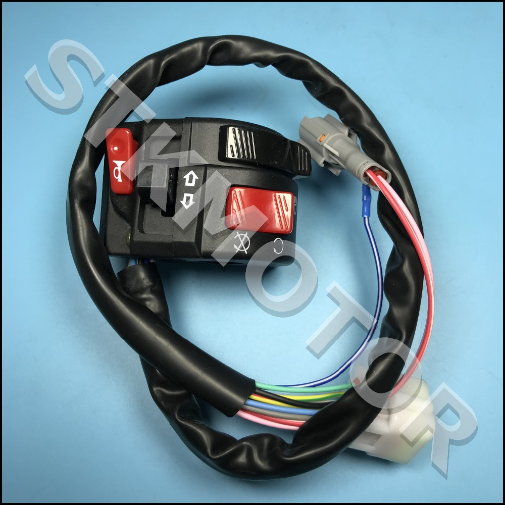 8 cabl ATV Handle Control Switch Assembly With Choke Lever 12 Wire 5 ...