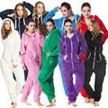 Teddy fleece all in one piece jumpsuit jump in suit all-in-one piece  onesies onezie cosy overhead sweatshirt unisex romper