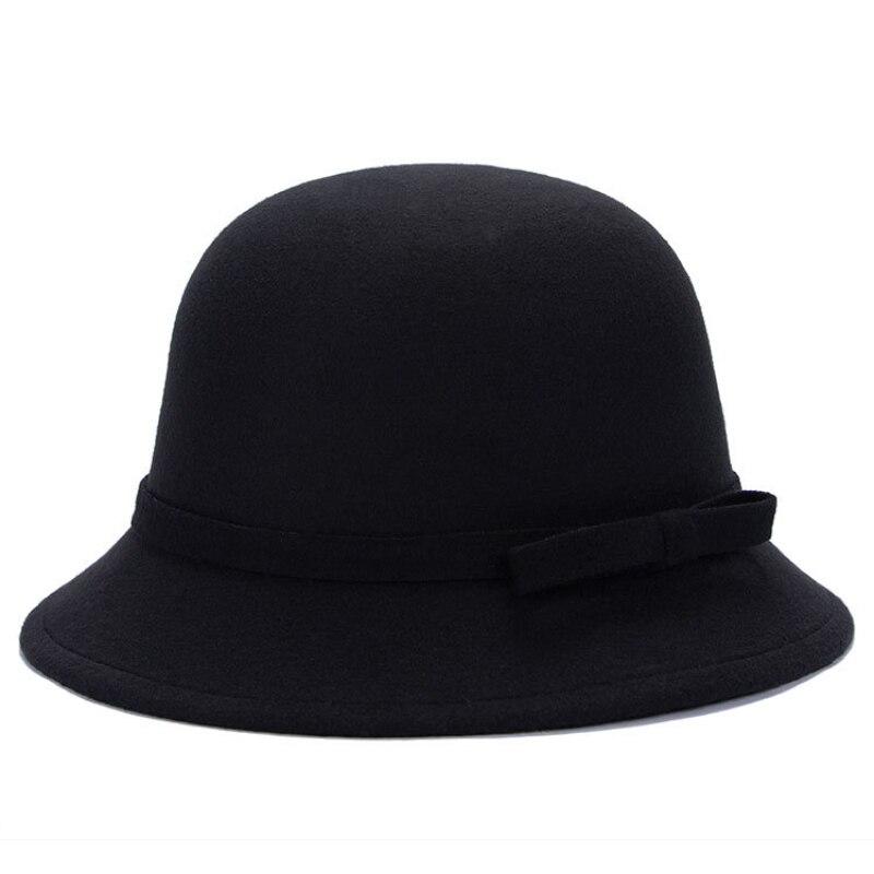 Mulheres elegantes Chapéus De Feltro de Lã100% real fotos de tiro1.  detalhes Do Produto  Material  poliéster  cabeça Circunferências  57 cm   cor  6 cores  ... 46f6c464f61