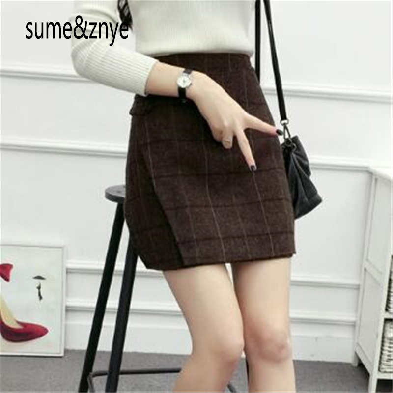 Spring and summer sexy women Slim plaid short skirt high waist A-LineOffice Skirts Womens Solid Mini Bodycon Skirt Plus Size