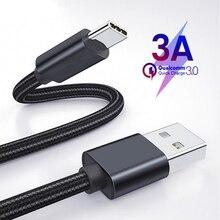 Usb type-C кабель 3,0 быстрое зарядное устройство для samsung S10 S9 A50 мобильный телефон type-C USB кабель для передачи данных для huawei P30 Pro type C кабель