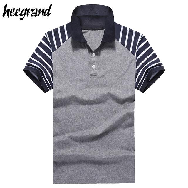 Polo de los hombres 2017 nueva llegada clásico transpirable verano rayado simple de calidad superior hombres polo camisa polo mtp284