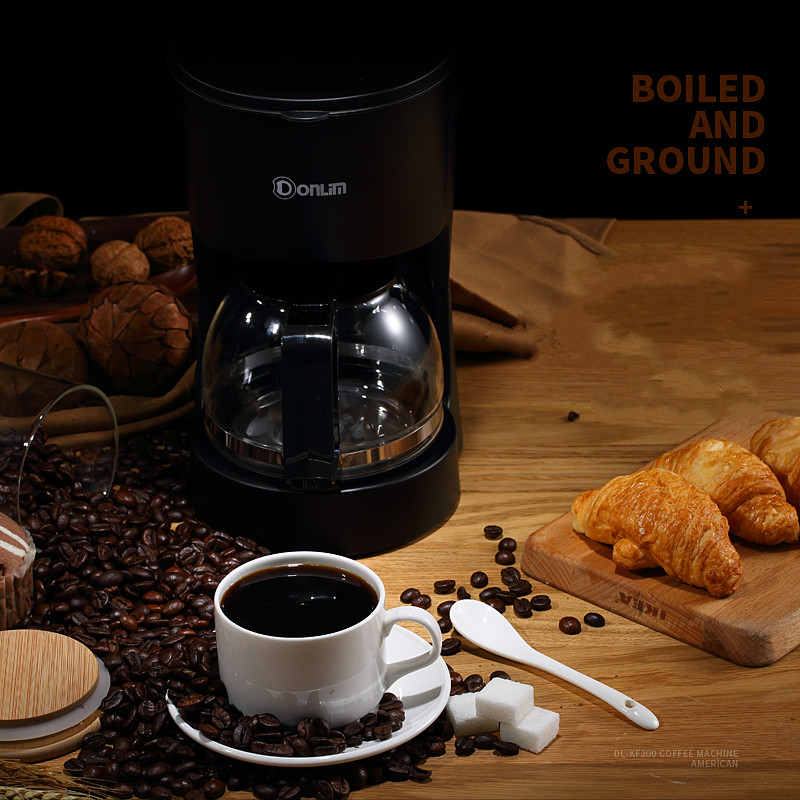 DL-KF200 600ML American Coffee machine Household Automatic Dripping Tea maker coffee pot coffee maker uses the american drizzle to make tea drinking machine