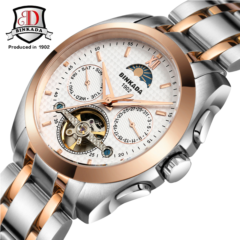 BINKADA Watch Men Automatic Mechanical Luxury Brand Men's Watch Clock Men Wrist watches Relogio Masculino Fashion reloj hombre цена 2017