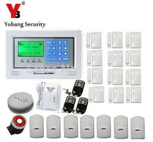 YobangSecurity Russian/Spanish/French /Italian/Czech/Portuguese Wi-fi Wired GSM SMS Dwelling Burglar Safety Alarm System Package