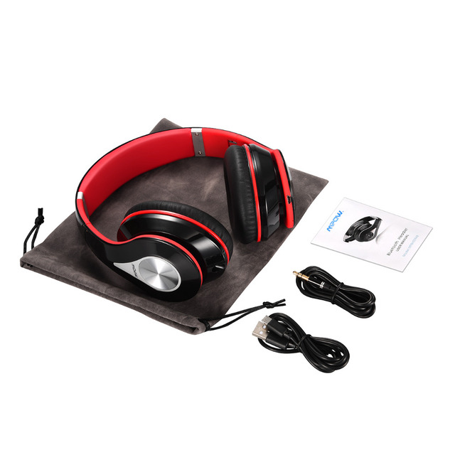 Noise Cancelling Stereo sound wired headset Mpow best On-Ear headset Headphone wireless Bluetooth 4.0 Built-in Mic Soft Earmuffs