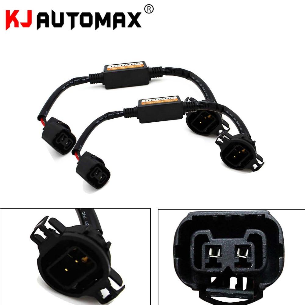 1 Pair 5202 H16 PSX24W LED Headlight Canbus Error Free Anti Flicker Resistor Canceller Decoders