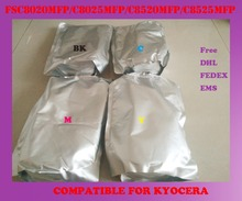 Free shipping refill color toner powder compatible for kyocera FSC8020MFP / C8025MFP / C8520MFP / C8525MFP high quality