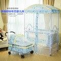 Bebé cuna cuna cama con mosquiteros puede alargar una pequeña cama para dormir cesta cesta