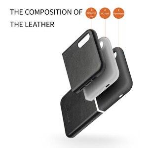 Image 3 - QIALINO جلد طبيعي نصف ملفوفة جراب هاتف ل أبل ل iPhoneXS ماكس الفاخرة سامسونج اليدوية الغطاء الخلفي ل فون XS /XR