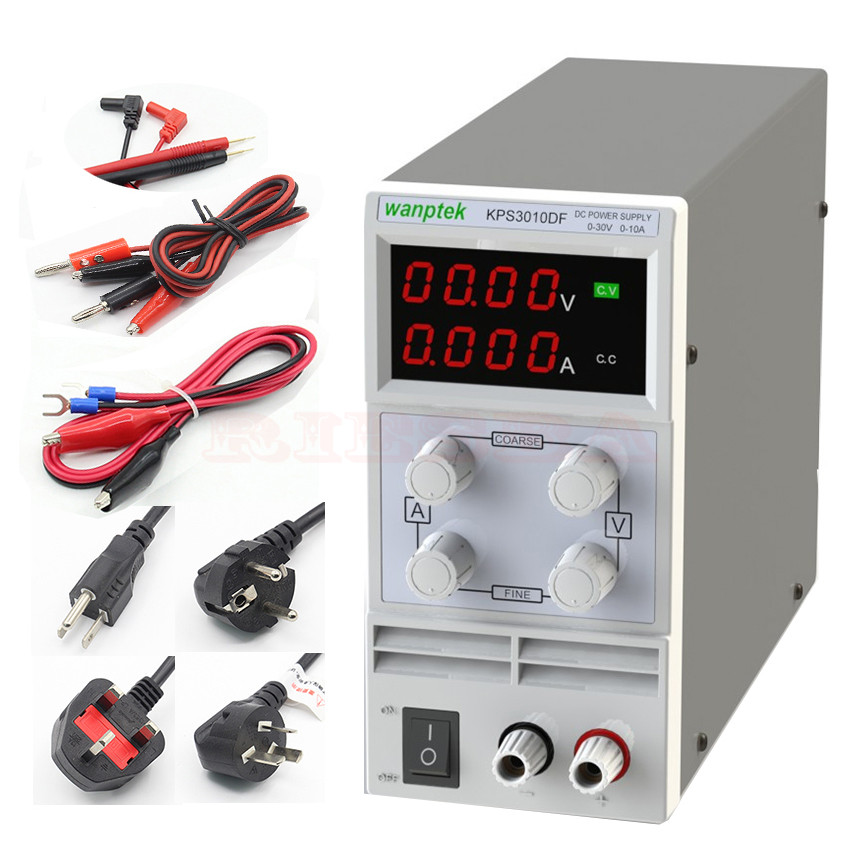wanptek KPS 3010DF Adjustable High precision LED display switch DC Power Supply protection function 30V10A 0