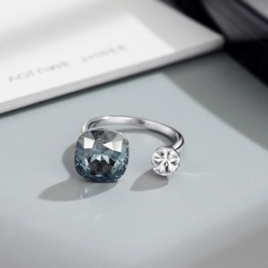 Image 5 - NeogloryคริสตัลและRhinestoneแหวนคู่สีสำหรับผู้หญิงคลาสสิกประดับด้วยคริสตัลจากSwarovski