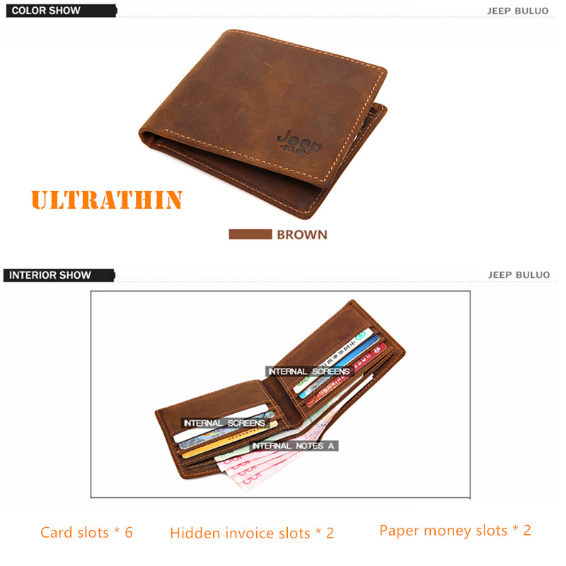 Image 3 - JEEP BULUO Luxury Brand Men Wallets Business Cow Genuine Leather  Mens Card Wallet Purse Top Quality Short Carteira Masculinacarteira  masculinamale purseleather mens wallet