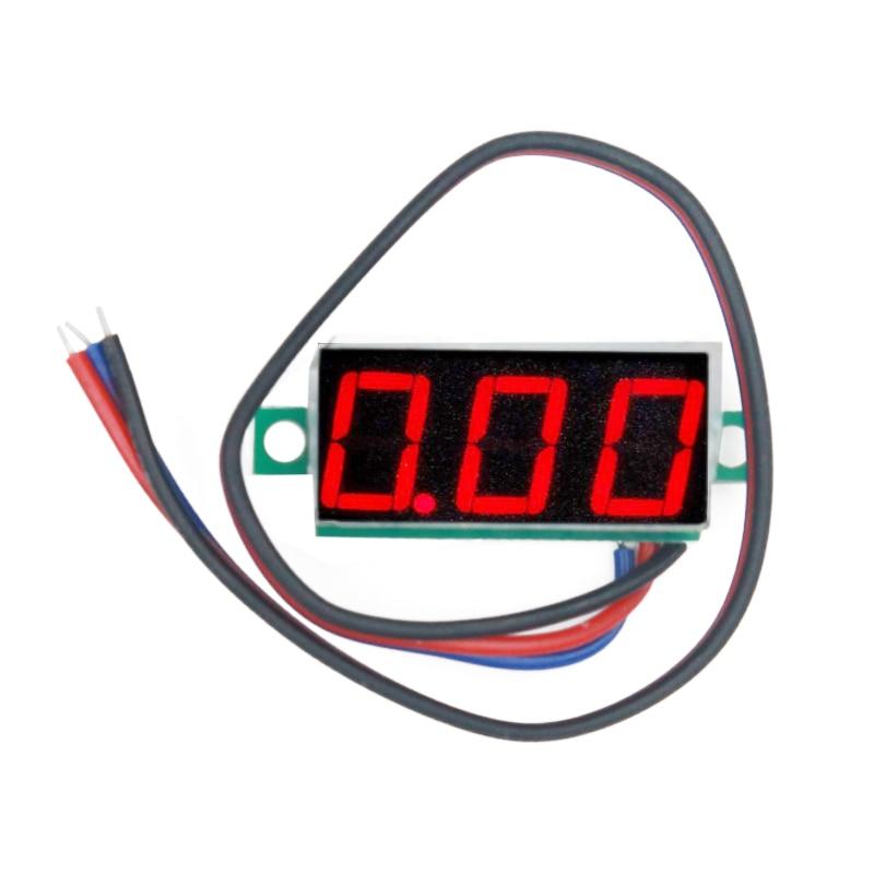 Red Lcd Display Mini 0 28 Quot Dc Digital Voltmeter Panel