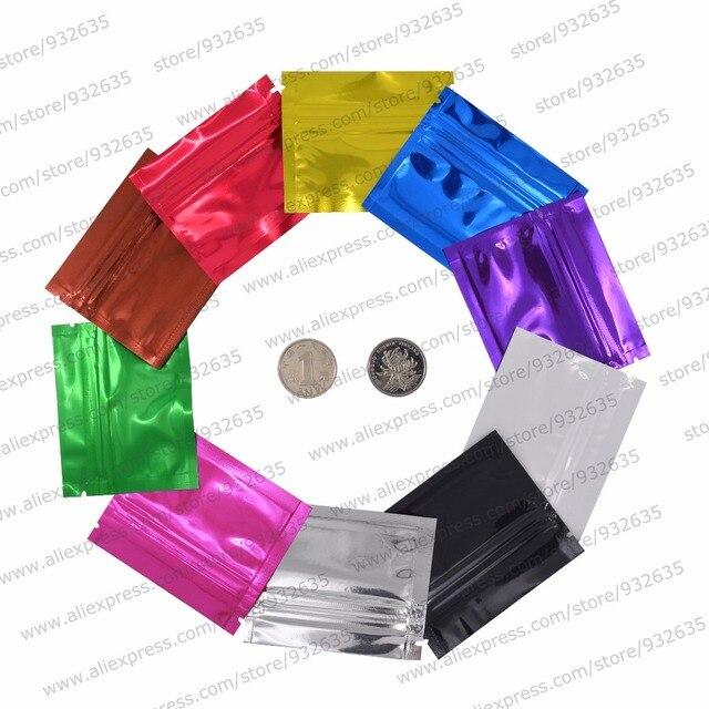 3 ''x 2.5'' (7.5x6.5 cm) pequena Bolsa Com Zíper Selo Saco Multicolor Bolsa Mylar Zip lock Sacos de Embalagem Saco de Amostra