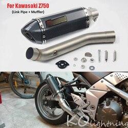 Dla Kawasaki Z750 tłumik wydechowy motocykla Mid rura łącząca Slip On układ wydechowy dla Kawasaki Z750 2007-2013 lat