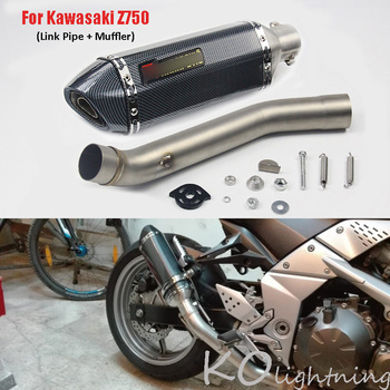 For Kawasaki Z750 Motorcycle Exhaust Muffler Mid Link Pipe Slip On Exhaust System For Kawasaki Z750 2007-2013 Years motorcycle exhaust modified scooter clamp on motorbike mid pipe slip on muffler exhaust mid pipe for yamaha mt 07 mt07 mt 07