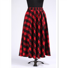 6XL 7XL Plus Size Women Autumn Winter Saia Feminina High Waist Wool Maxi Long Skirt Fireside