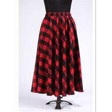 WBCTW 7XL Plus Size Women Autumn Winter Saia Feminina High Waist Wool Maxi Long Skirt Fireside