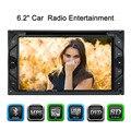 "6.2 ""2 Din HD DVD Del Coche de vídeo/mutimedia jugador autoradio Pantalla Táctil Estéreo de audio USB/SD de La Cámara entrada de MP3/MP4/MP5 FM Bluetooth"