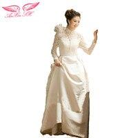Spring Bridal Dress Korean Word Shoulder Long Sleeve Lace Wedding Dress For Pregnant Women 2014 Spring