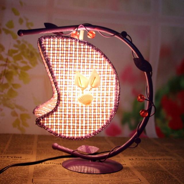 Criativo Lâmpada de Mesa de Ferro Forjado Pendurado Luz Da Lua Com Plug EUA