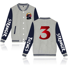 Stranger Things 3 Men's Baseball Jacket Kpop Men/Women Funny Harajuku Jacket Streetwear Homme Windbreakers Free Shipping 4XL