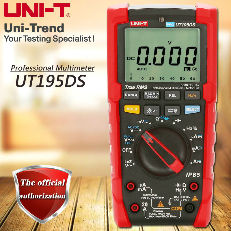 UNI-T UT195DS Industrial True RMS Digital Multimeter Flashlight / Low Pass Filter Test / LoZ Measurement кронштейн itechmount ptrb 44 до 40кг white