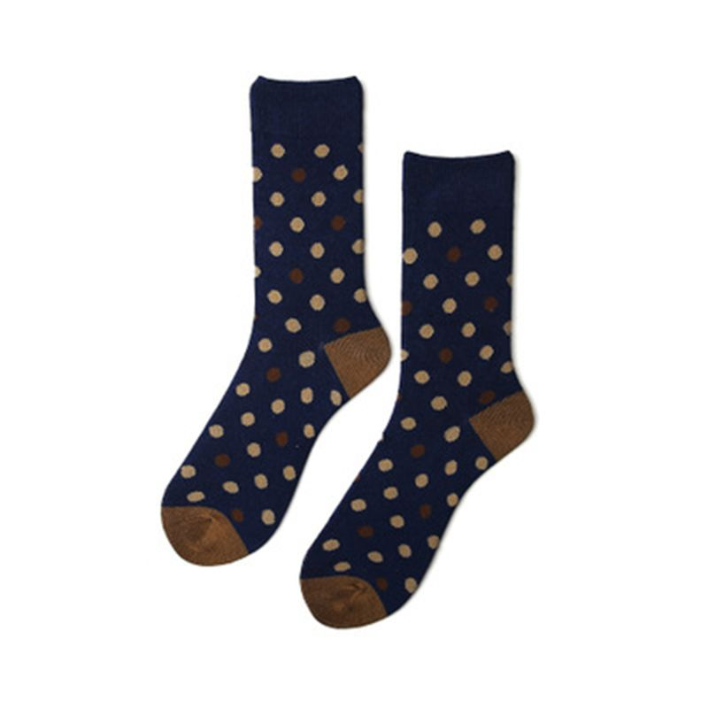 Precise Unisex Couples Harajuku Autumn Cotton Mid-calf Long Ankle Socks Hip Hop Geometric Striped Polka Dot Printed Skateboard Tube D25 Underwear & Sleepwears