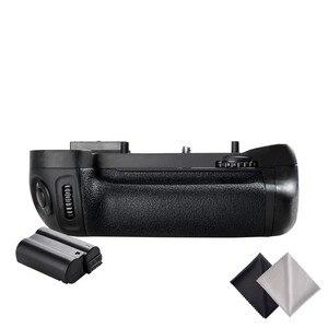 Image 3 - Professional Vertical Battery Grip Pack Holder for Nikon D7100 D7200 Camera as MB D15+1pcs EN EL15 battery+2pcs Lens Cloth