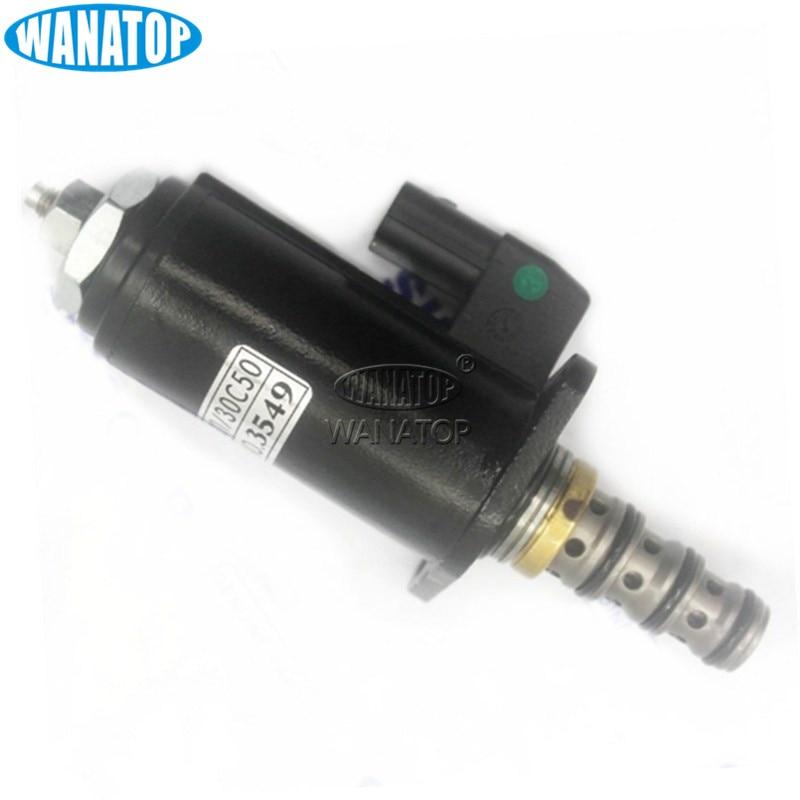 New YN35V00048F1 SKY5P17A KDRE5K-31-30C50 Hydraulic Pump Solenoid Valve For Kobelco SK200-6