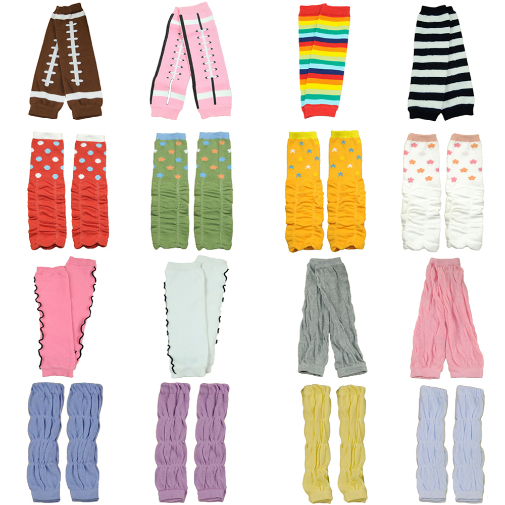 Girl Toddler Stripe Polka Dots Arm Leg Warmers Warm Cotton Socks Tights SCKXW0504