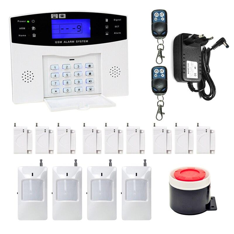 DANMINI LCD Clavier alarme gsm sans fil Maison sécurité gsm Système D'alarme télécommande PIR détecteur de mouvement Sirène alarme à capteur Kit