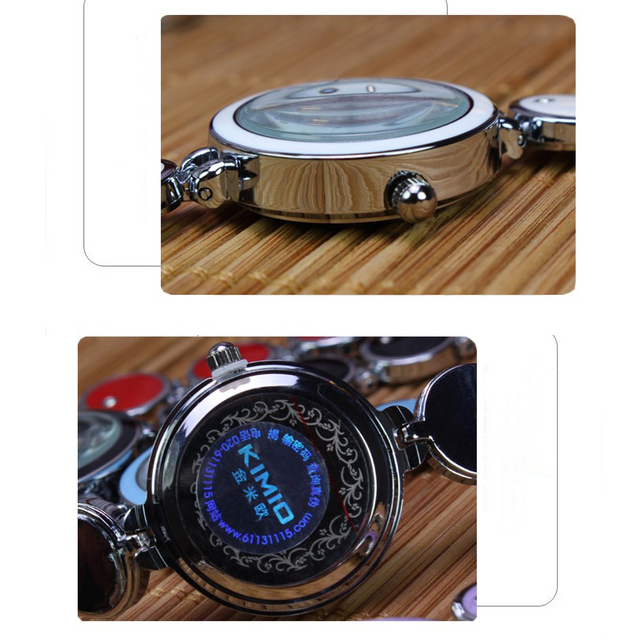 KIIMIO Brand Women Small Dial Watches Ladies Fashion Round Crystal Bracelet Watch Clock Female Dress montre femme
