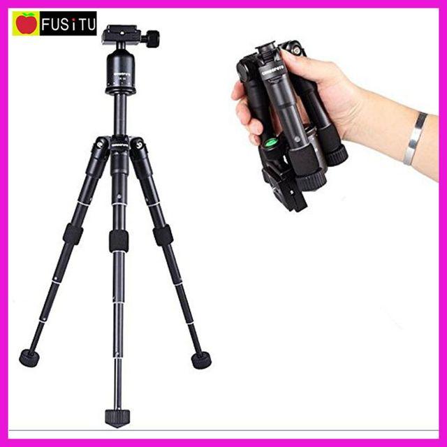CAMBOFOTO M225 + CK30 Portable Folding Aluminum Tripod Desktop Mini Tripod Kit with Ball Head for DSLR Camera