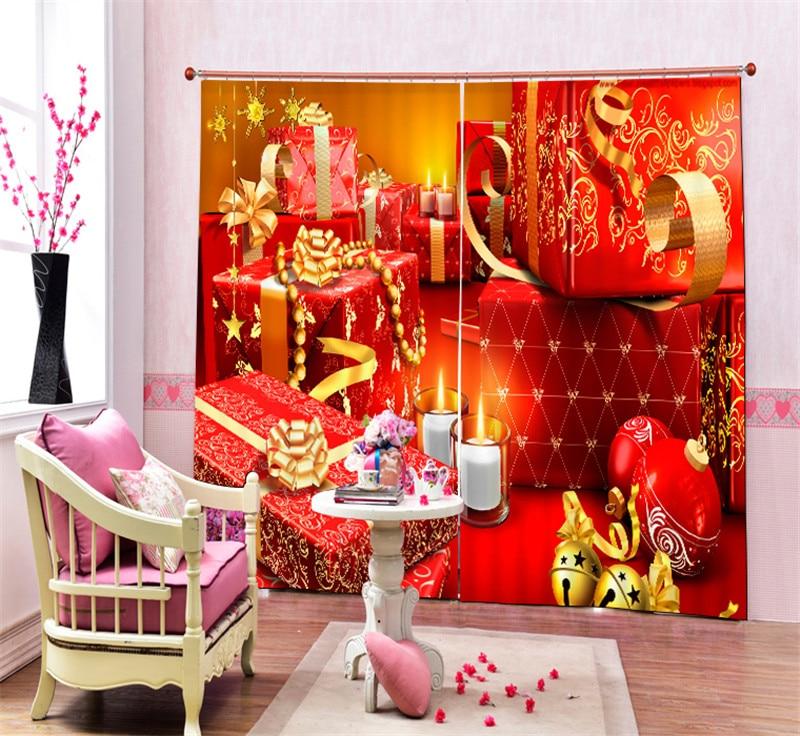 Современная роскошь Рождественский подарок 3D плотные шторы на окне для постельных принадлежностей Гостиная Home настенные декоративные hotel шторы Cortina