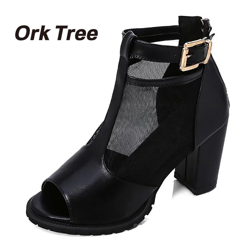 Ork Tree New Summer Women's Sandals Summer  Cover Heel Platform Open Toes Wedges Shoes Woman Gladiator Sandals 50 weweya casual gladiator female flats sandals 2017 new platform open toes shoes women summer wedges shoes woman sandalias sapatos