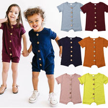 UK Infant Baby Summer Clothes Boys Girls Romper  Jumpsuit Cotton Multicolor Outfit Short