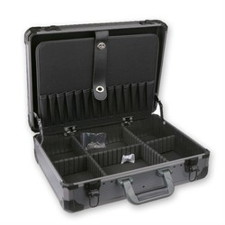 Aluminum Tool case suitcase toolbox For Big Small Tool Kit Collision avoidance resistant safety box With lock Storage Box
