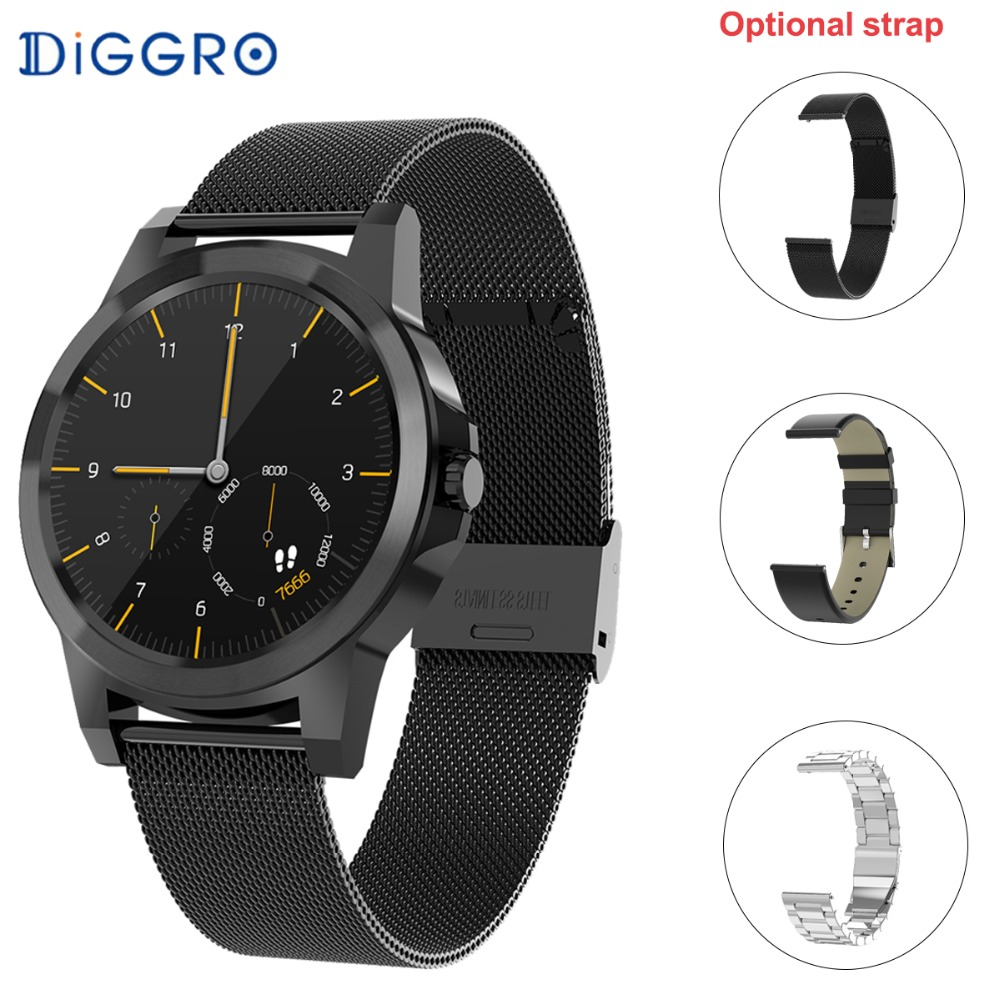 Diggro Di03 Plus Bluetooth Siri Good Watch Mtk2502C Ip67 Waterproof Coronary heart Charge Monitor Pedometer Good Watchs For Android Ios