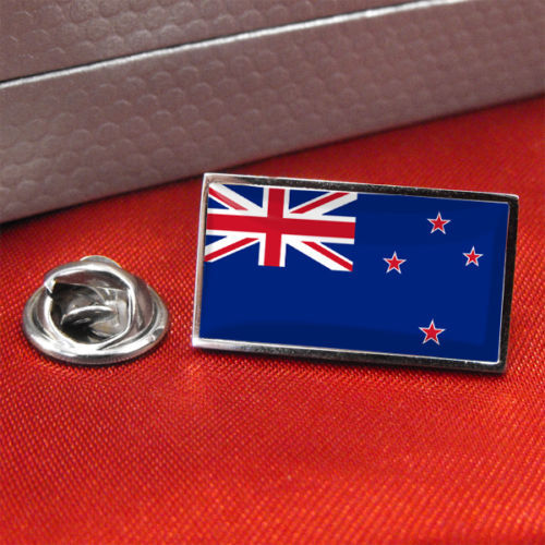 custom flag badges High quality New Zealand Flag metal Lapel Pin Badge Tie Pin factory customized lapel badge in Badges from Home Garden